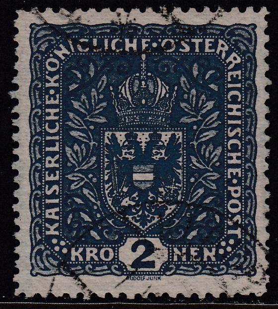 Österreich Österreich 1916 Nr 200 Ii 26x29mm Wappen Gestempelt
